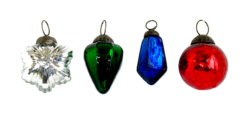 "2.5"" Holiday Glass Ornament Assortment"