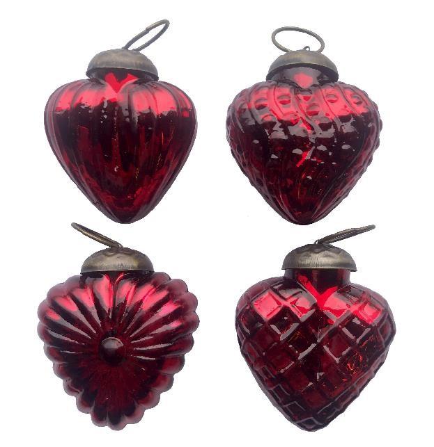 """2"""" Red Textured Heart Assortment"""