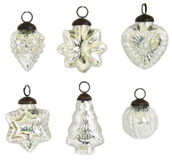 """2"""" Silver Ornaments"""
