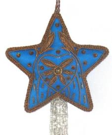 "3.5"" Embroidered Star with Tassle"