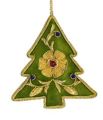 "3.5"" Embroidered Tree Ornament"