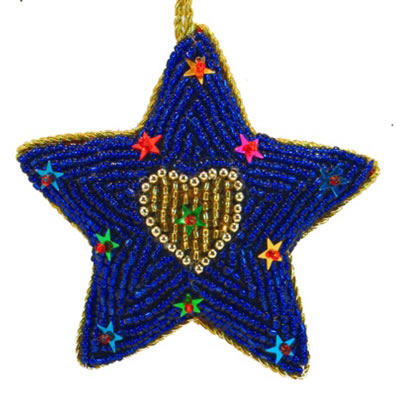 "3"" Beaded Star Ornament"
