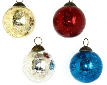 "3"" Crackle Ball Ornament"