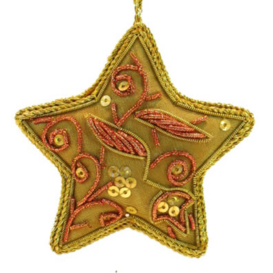 "3"" Embroidered Star Ornament"