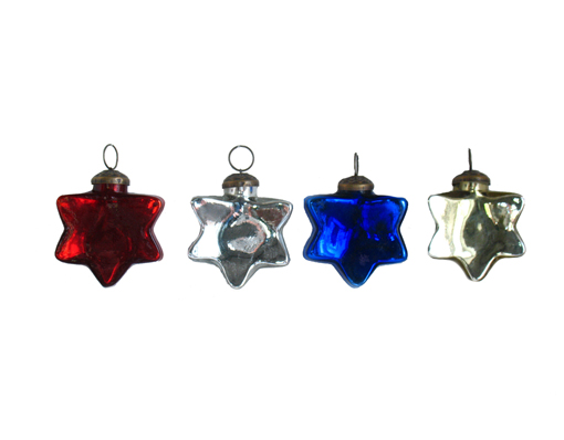 "3"" Glass Star Ornament"