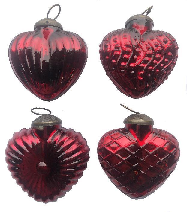 """3"""" Red Textured Heart Assortment"""