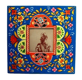 "3x3"" Folk Art Painted Frame"