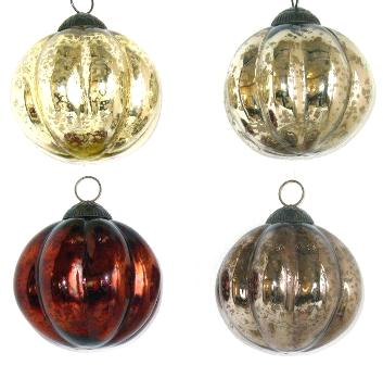 "4"" Antique Ball Melon Ornament"