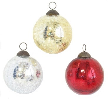 "4"" Crackle Ball Ornament"