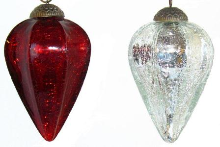 "4"" Crackle Drop Ornament"