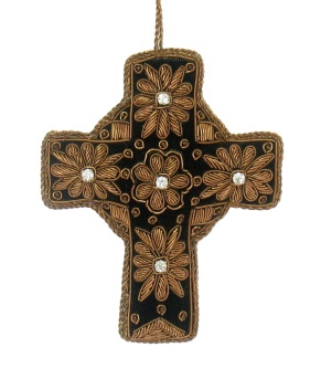 "5"" Embroidered Cross Ornament"
