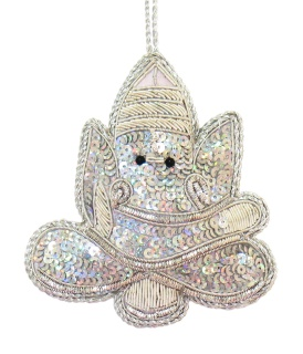 """4"""" Silver  Ganesha Ornament"""