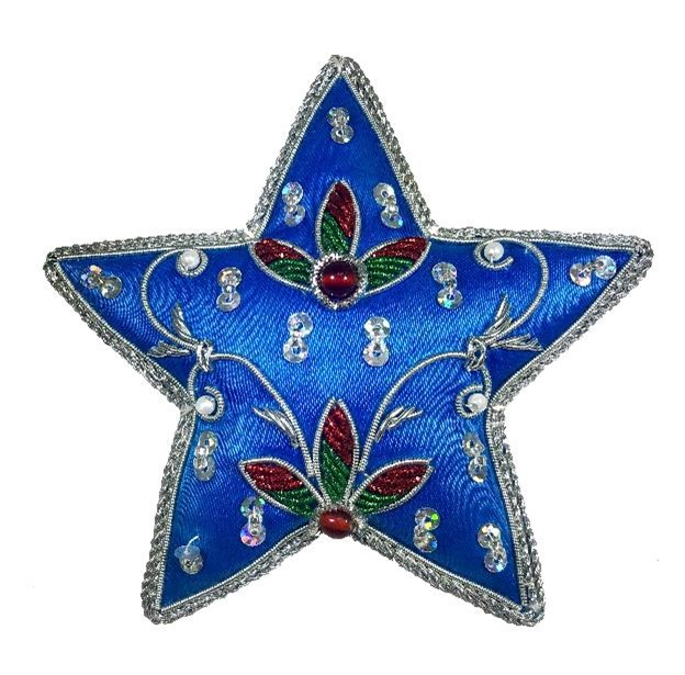 """4"""" Embroidered Star Ornament"""