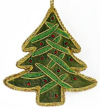 "4"" Embroidered Tree Ornament"