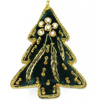 """4"""" Embroidered Tree Ornament"""