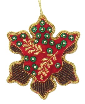 "4 ""  Embroidered  Snowflake Ornamant"