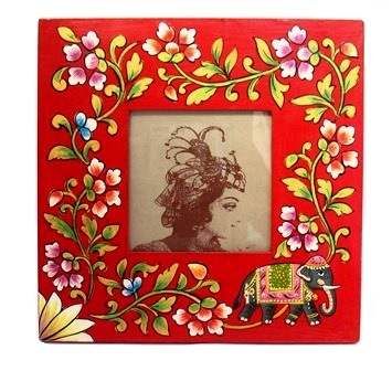 "4x4"" Folk Art Elephant Frame"