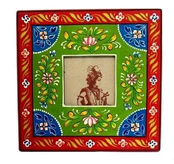 "4x4"" Folk Art Painted Frame"