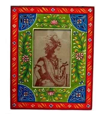 "4x6"" Folk Art Painted Frame"