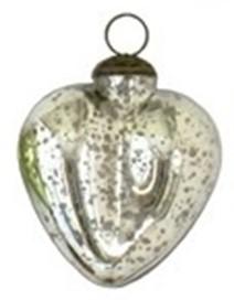 "5"" Antique Silver Heart Ornament"