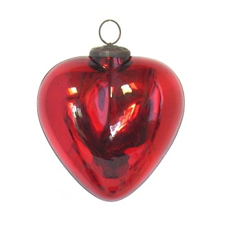 "5"" Red Heart Ornament"