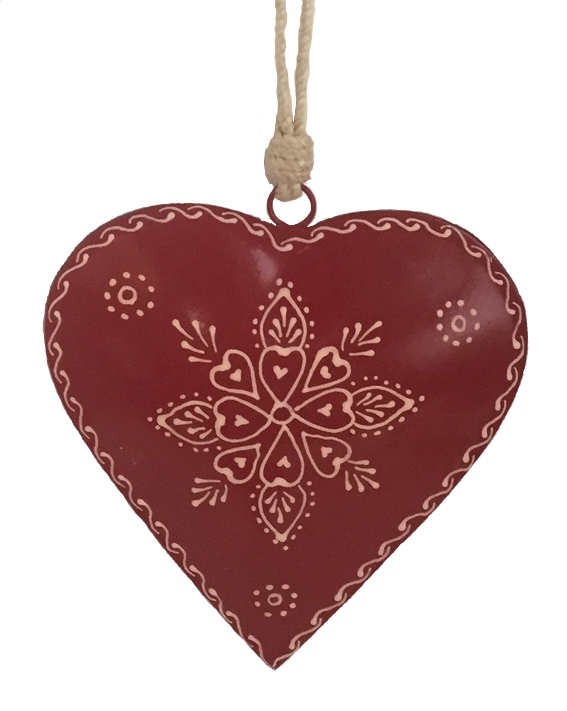"""7"""" Red Painted Heart"""