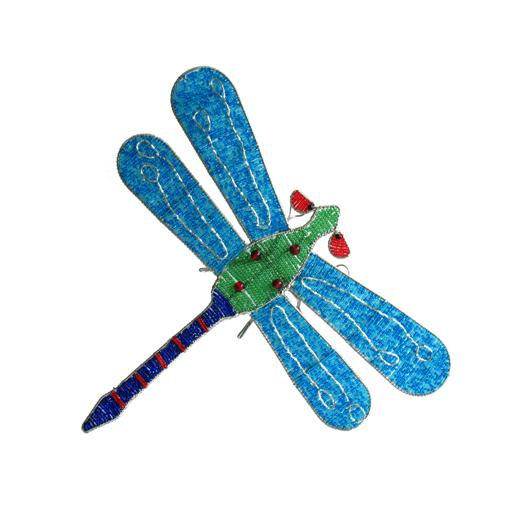 Aqua Beaded Dragonfly