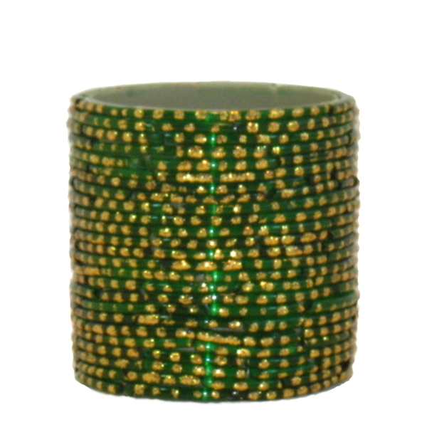 Bangle Votive, Green/Gold