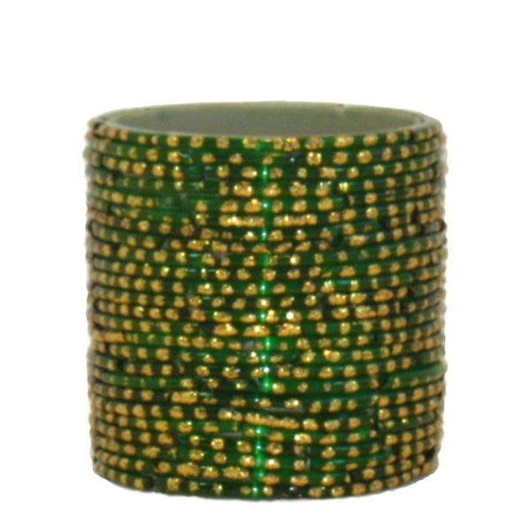 Bangle Votive, Green/Gold