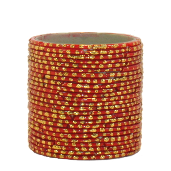 Bangle Votive, Red/Gold