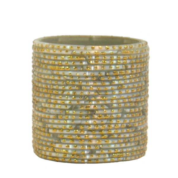Bangle Votive, White/Gold