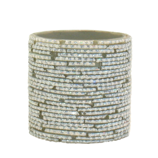Bangle Votive, White/Silver