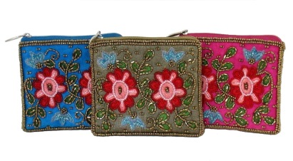 Bead Flower Coin Purse