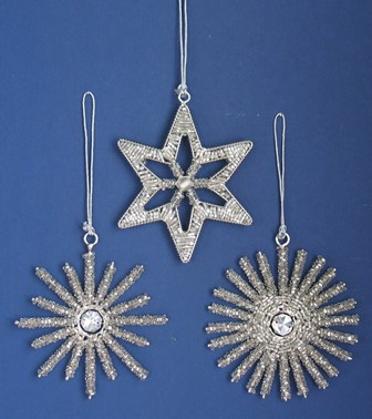 Beaded Star and Snowflakes