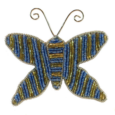 "4"" Blue Butterfly Ornament"