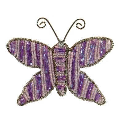 "4"" Purple Butterfly Ornament"