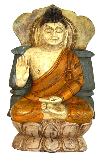 Carved Sitting Buddha