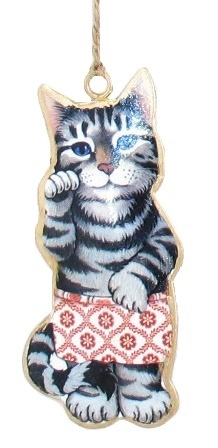 Cat with Shorts Ornament