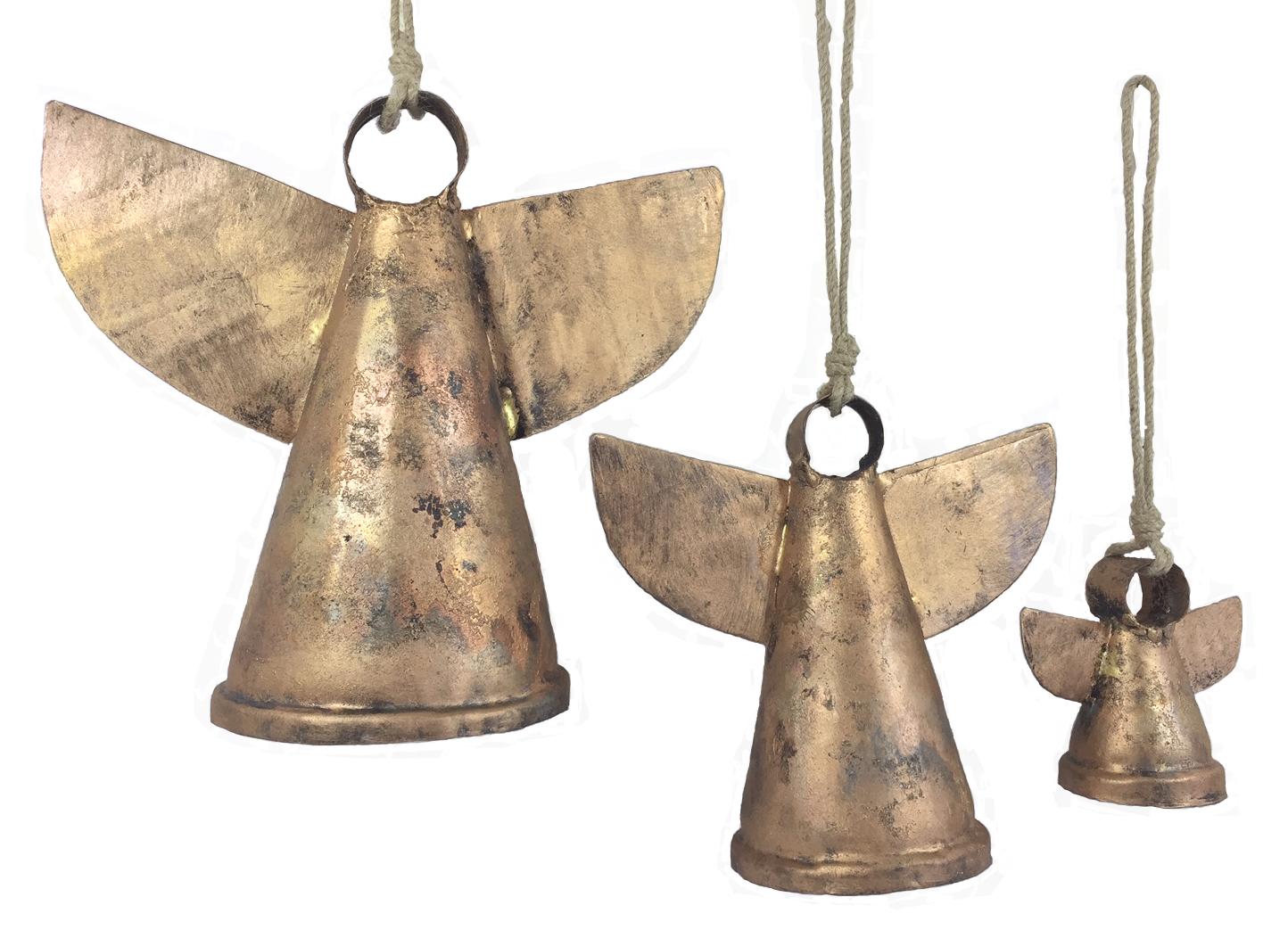Copper Patina Angel Bells