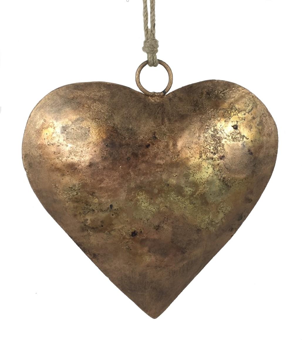 Copper Patina Heart Ornament