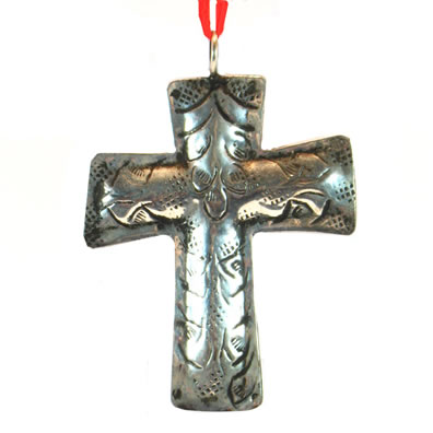 "3"" Metal Cross Ornament"