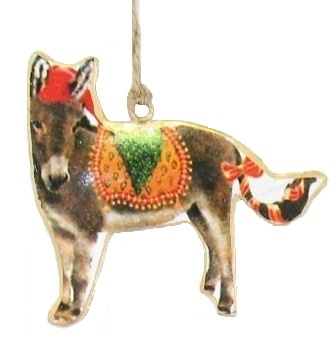 Donkey with Wreath Ornament