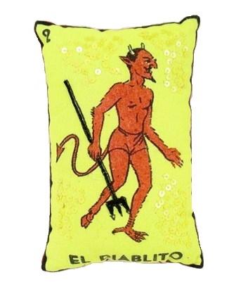 El Diablito Loteria pillow