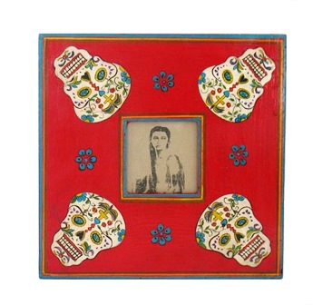 Folk Art Painted Skulls Frame