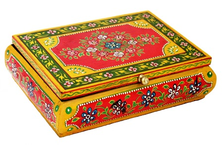 Folk Art Painted Box