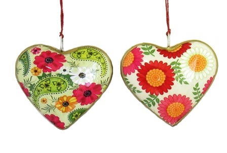 Gerber Daisy Heart Ornament