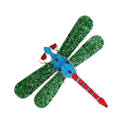 Green Beaded Dragonfly