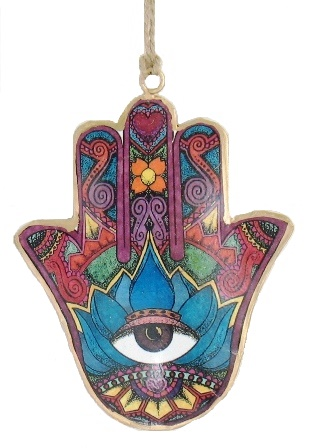 Hamsa Brown Eye Ornament