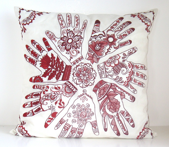 Hand  Pillow Cover