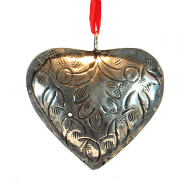 "3"" Metal Heart Ornament"